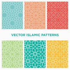 Download six seamless vector Islamic and Arabic geometric patterns free!