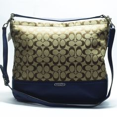 Coach Park Signature Hobo BNWT. Signature print fabric, with silver tone hardware. Removable strap for crossbody or shoulder wear. Inside zip, cell phone and multifunction pockets. 100% authentic. Coach Bags Hobos