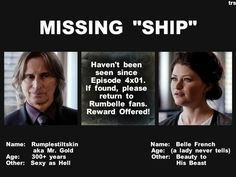 """k i never shipped this, and still dont, and i DO NOT (no offense rumple fangirls) think rumple's """"sexy as hell"""" (im one of hook's fangirls) but this was too depressing to NOT pin............ugh what rumbell OTPers must be going through right now.........."""