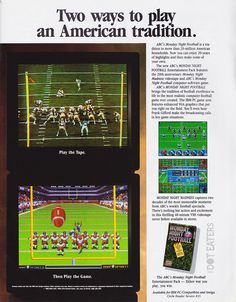 Take to the gridiron, right on your Amiga or IBM-PC/compatible (1991). #SuperBowl #NFL #bitstory