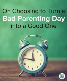A bad #parenting day doesn't have to stay that way. Here's how I learned to turn things around (and why it's never too late to do so). http://sleepingshouldbeeasy.com/2015/03/18/bad-parenting-day-into-good/