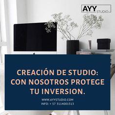 Mira nuestros planes que tenemos para Crear un Studio. Info: + 57 3114001513  www.ayystudio.com Letter Board, Lettering, Studio, Bucaramanga, Lights Camera Action, Create, Drawing Letters, Studios, Brush Lettering