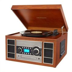 Crosley Radio Memory Master II CD Recorder Turntable (1.970 HRK) ❤ liked on Polyvore featuring home and home decor