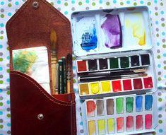 Schmincke Reserve travel kit. I love Schmincke watercolors! #watercolorarts