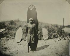 Des surfeurs au collodion humide surf land colloidon humide photo ancienne 06 photo art