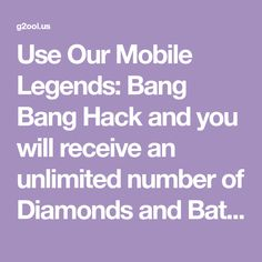 New Mobile Legends hack is finally here and its working on both iOS and Android platforms. This generator is free and its really easy to use! Play Hacks, App Hack, Mobile Legend Wallpaper, Android Hacks, Free Gems, Hack Online, Mobile Legends, Bang Bang, Battle