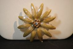 Vintage Enamel Flower Rhinestone Pin. Starting at $5 on Tophatter.com!Auction TONIGHT 4/1/2013,10pm est room opens here is the link http://tophatter.com/auctions/18703 ,RSVP! I DO combine shipping