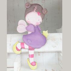 Siluetas madera infantil efecto pintado a mano - HADA CON VARITA