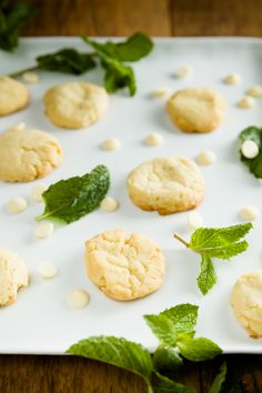 Mint White Chocolate Cookies   The Cupcake Project