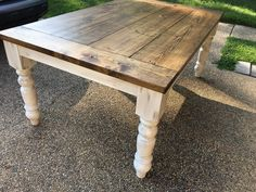 Dining table finished look Stain:Special Walnut (or chestnut) Seal:Satin