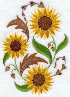 Tuscan Sunflowers at Embroidery Library