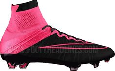 Nike Mercurial Superfly 2015 pink schwarze Stiefel – William Green – Join the world of pin Latest Football Boots, Cool Football Boots, Soccer Boots, Football Shoes, Nike Heels, Nike Boots, Girls Soccer Cleats, Nike Soccer, Nike Headbands
