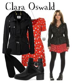 """Clara Oswald 50th Anniversary episode"" by companionclothes ❤ liked on Polyvore featuring White House Black Market, Topshop, Vero Moda, Monki and Pull&Bear"