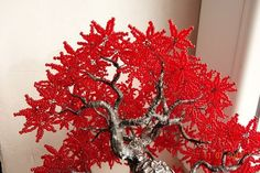 http://liice.info Осеннее дерево из бисера. Мастер-класс