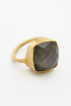 Square Ring - Labradorite