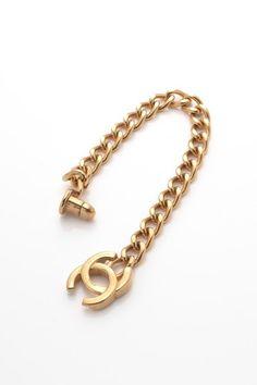 Vintage Chanel Turnlock CC Chain Bracelet by LXR on @HauteLook