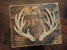 Deer Antler String Art by StringsAttachedKY on Etsy Deer antlers string art, 20 String Art Patterns, Doily Patterns, Dress Patterns, Nail String Art, Arts And Crafts, Diy Crafts, Resin Crafts, Thread Art, Deer Antlers
