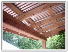 corrugated patio cover note this is not attached to the house the ... - Metal Roof Patio Cover Designs