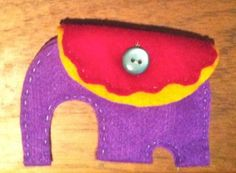 Little felt Elephant coin purse. Loved making this, can't wait to do more! #felt #crafts #easy