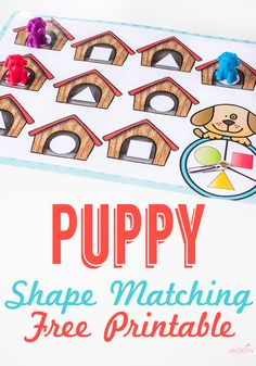 Dog House Shape Game for Preschoolers - Life Over Cs