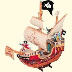 Captn Sharky Bausatz Piratenschiff