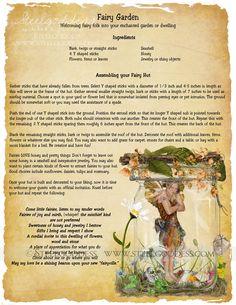 Elves Faeries Gnomes:  #Faery Garden Spell.