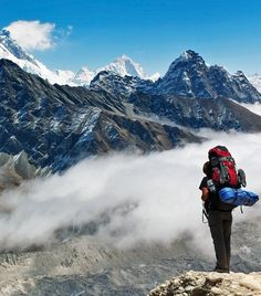 View of Everest from Gokyo Ri - Nepal