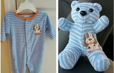 keepsake bear made from baby clothes #Keepsake #Bear #Baby