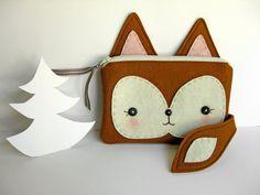 Foxy Little Pouch van blueberrybandit op Etsy, $32.00
