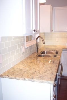 Kitchen Tile Backsplash White Color