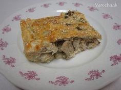 Slaný koláč s kuracím mäsom, pórom a gaštanmi