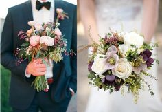 The bridal bouquet will be a loose organic bouquet of jasmine vine, ivory garden roses, lavender hellebores, purple anemones, pale green succulents, ivory ranunculus, fresh lavender, rosemary, and lambs ear.