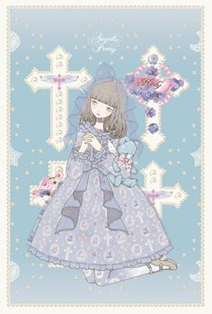 lolitahime:Milky Cross by Imai KiraMore of Imai Kira's Angelic Pretty postcard illustrations have been updated recently, please check it out here.