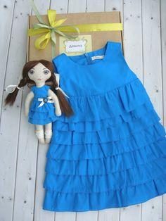 A Present set for a girl: Dress and Doll by Devitachildren on Etsy