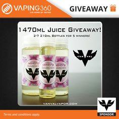21 x 210ml Vanval E-Liquid Giveaway