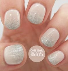 cool neutral nail ombre silver beige - OMG I LOVE THIS, YES.