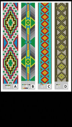 off loom beading techniques Loom Bracelet Patterns, Bead Loom Patterns, Peyote Patterns, Beading Patterns, Cross Stitch Patterns, Beading Ideas, Jewelry Patterns, Beads Pictures, Native Beadwork