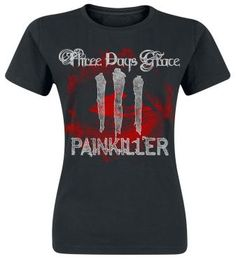 "Three Days Grace T-Shirt, Women ""Bloodshot"" black • EMP"