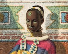 The pride of Africa is its women. Celebrate the African women in your life with this gorgeous painting of a young Ndebele Girl. The Ndbele are a strong and fierce people native to southern Africa. South African Artists, African Tribes, December, Rocky Horror Picture, Black Artwork, Poster Prints, Art Prints, Posters, New Art