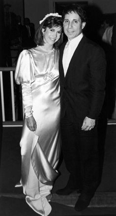 With new husband Paul Simon on their wedding night in 1983.