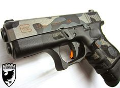 dae4e4fbed0 A RookWorx   Rebel Road Custom Glock 26 Rebel Road Custom Cerakote Camo  -Stip.