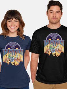 f9acc86a253 Cool T-Shirt for Women and Men Doom  Zelda  Link Badass Style