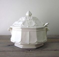White Ironstone China | White Ironstone China Tureen by 22BayRoad on Etsy, $68.00
