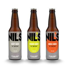 Nil's Soda Packaging by Amelia Sargent, via Behance