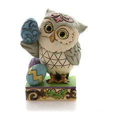 Jim Shore EASTER OWL MINI Polyresin Eggs Wise 4051404