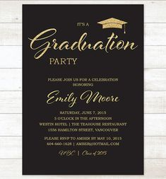 EDITABLE Graduation Party Invitation High School Graduation - Graduation party invitations ideas