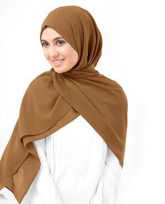 Cathay Spice Poly Georgette Hijab Hijab Wear, Turban Hijab, Scarf Styles, Hijab Styles, Nude Scarves, Shirt Skirt, Beautiful Hijab, Pashmina Scarf, Sleek Look