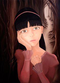 """En lo más profundo del bosque encontrarás la voz de la oscuridad, el silencio donde pocos  logran aventurarse.   Título: """"Bosque del Temor"""" Técnica: Óleo sobre Bastidor Medida: 50 x 70 cm. (2 cm. grosor) Creación: 2012 Colección: Dolls  Verificar Disponibilidad: rigoyarte@gmail.com  Artista - Rigoberto Castro (Rigo-Art)"""