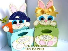 SU punch art.....these are soo cute my little boy and girl would love these at Easter