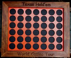 Poker Chip Display Frame Texas Hold 'Em frame by CarvedByHeart